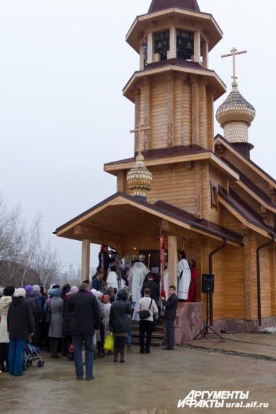 Деревянный храм – часть будущего храмового комплекса в честь всех благоверных Князей и Княгинь российских.