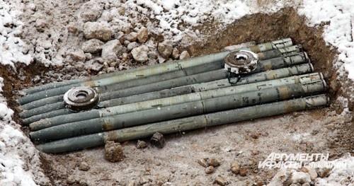 Способ уничтожения снарядов - подрыв