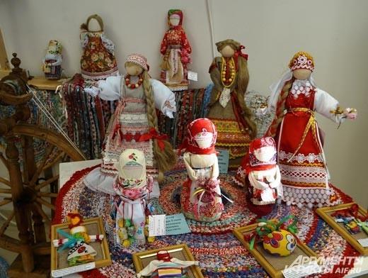 Куклы в народных костюмах Белгородской области.