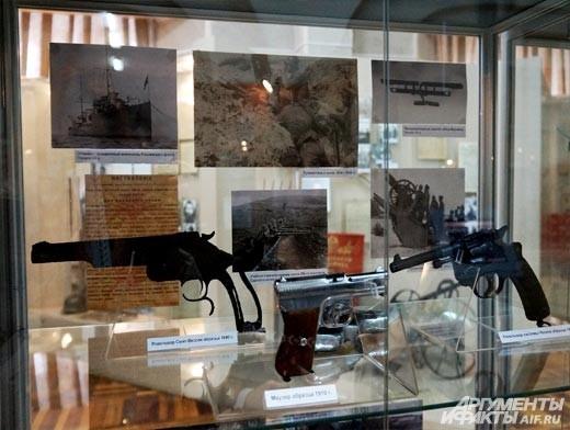 Офицерский состав русской армии в период Первой мировой войны 1914-1918 годов был оснащён семизарядными револьверами Нагана.