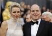 Принц Монако Альберт и его жена принцесса Шарлин
