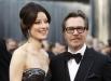 Британский актёр, режиссёр и продюсер Гэри Олдмен и его жена, джазовая певица Александра Эденборо. Гэри Олдмен был номинирован на «Оскар» за лучшую мужскую роль в фильме «Шпион, выйди вон!»