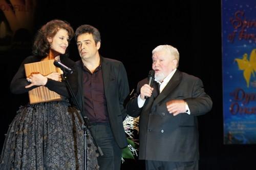 Французская актриса Фанни Ардан и российский режиссер Сергей Соловьев