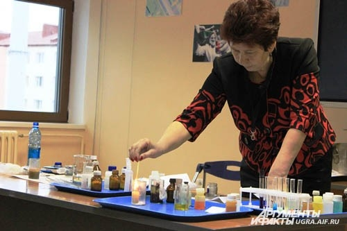 Химические опыты показали в Музее геологии, нефти и газа