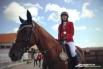 Алена Бабушкина: «Приехала из Екатеринбурга. Мою лошадь зовут Изотерика. В Ханты-Мансийск приезжаю уже в 4 раз. Показываю здесь неплохие результаты. Очень нравится и сам комплекс и организация соревнований, ну и конечно же город»