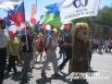 Начался праздник традиционно с шествия трудовых коллективов. В этом году в праздничном шествии по случаю Дня России и Дня города приняли участие более 2500 человек.