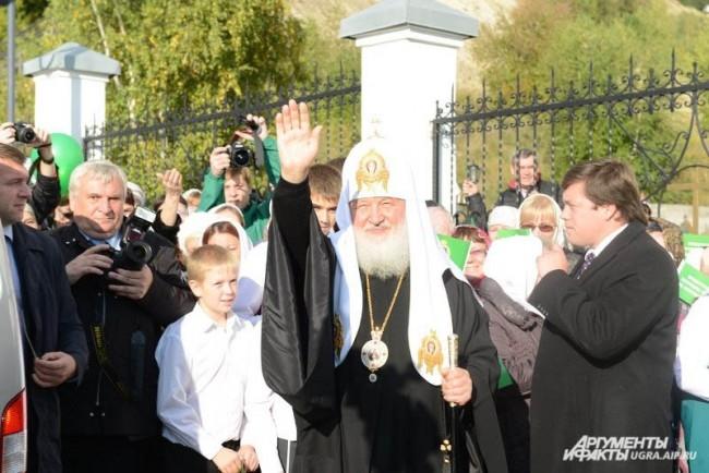 Патриарх Кирилл лично благословил каждого ребенка.