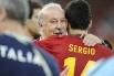 Тренер сборной Испании Висенте дель Боске стал первым тренером, выигравшим чемпионат мира, Европы и Лигу чемпионов