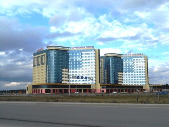 И в заключение хантымансийские башни-близнецы - гостиничный комплекс «Югра Олимпийская»