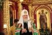 А сегодня, 19 сентября, Владыка освятил главный Кафедральный собор Воскресения Христова. В 2001 год место строительства храмового комплекса посетил Его Святейшество Патриарх Московский и Всея Руси Алексий II. А теперь весь храмовый комплекс освятил нынешн