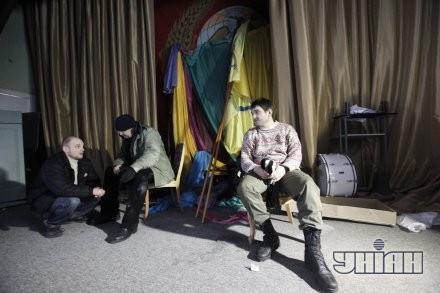 Зал, где проходило заседание общественного совета в помещении Главпочтамта