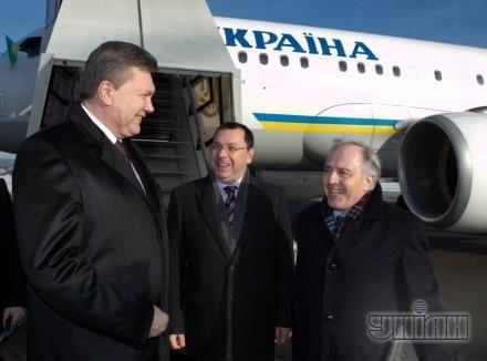 Виктор Янукович в аэропорту Давоса, в среду, 23 января 2013 г.