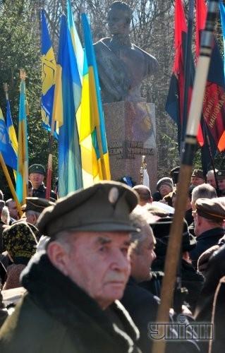 Участник торжеств по чествованию памяти генерал-хорунжего, главного командира УПА Романа Шухевича