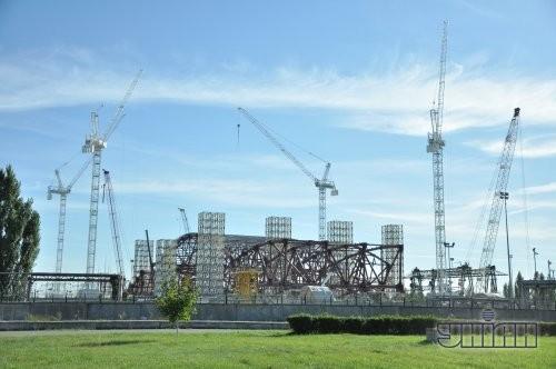 Строительство нового саркофага над четвёртым энергоблоком Чернобыльской АЭС