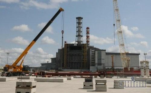 Строительство арки нового безопасного конфайнмента на ЧАЭС