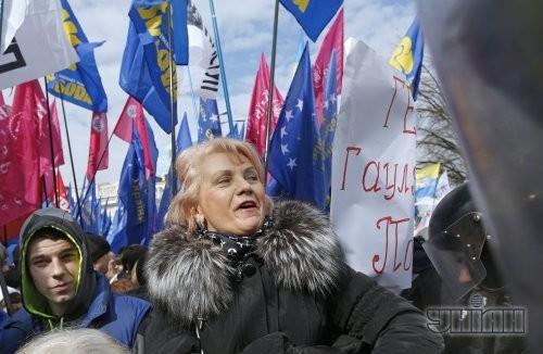 Участники митинга оппозиции