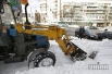 Трактор застрял в снегу