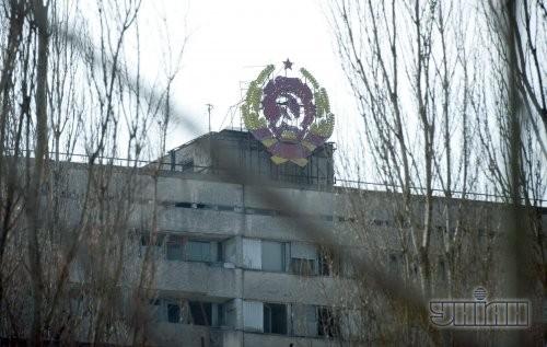 Оставленный жителями после катастрофы на Чернобыльской АЭС город Припять