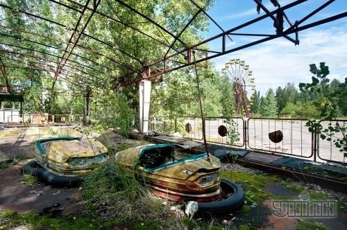 Заброшенные карусели в Припяти