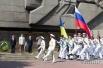 Парад во время Дня флота в Севастополе