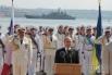 Президент Российской Федерации Владимир Путин во время торжеств, посвященных Дню флота
