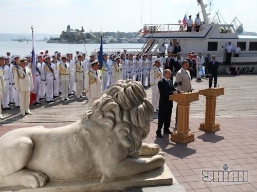 Президент Украины Виктор Янукович и президент Российской Федерации Владимир Путин