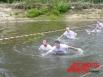 Часть дистанции в воде можно было пройти