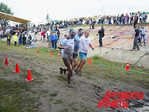 Перед самим финишем участники не сдерживали радости