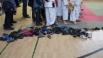 Еще один непременный атрибут соревнований по восточным единоборствам - сменная обувь, ее обязательно снимают на татами
