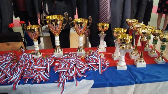 Кубки и медали, которыми награждали победителей
