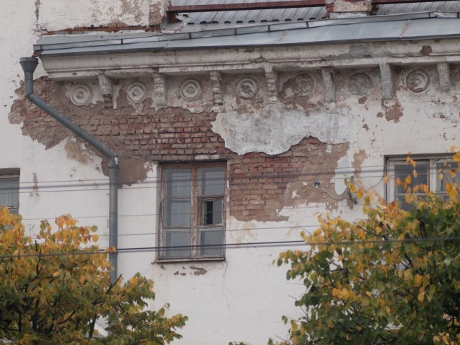 Фасад дома в центре города