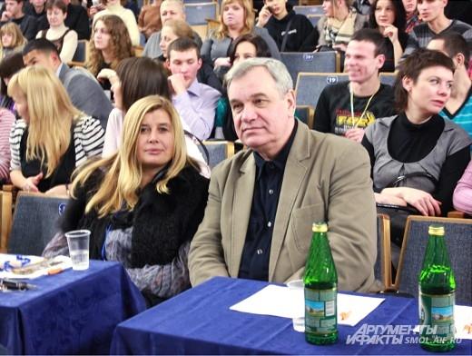 Члены жюри - Оксана Лаберко и Виктор Зимин