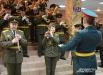 Гостей также встречал военный оркестр