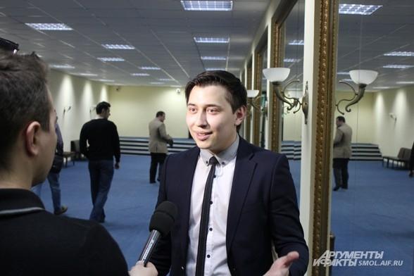 Организатор фестиваля в Смоленске, кавээнщик Руслан Морозов