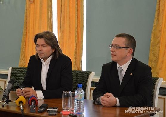Дмитрий Маликов и Владислав Кононов, начальник департамента Смоленской области по культуре и туризму