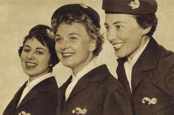Первые стюардессы американских авиалиний, 1930 год.