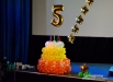 «Киномаю» - пять лет, о чем и свидетельствует цифра на торте