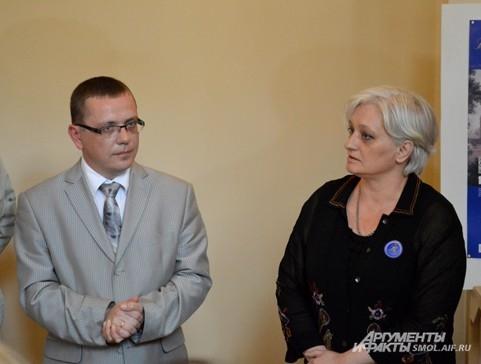 Рядом с Владиславом Кононовым - Светлана Сокерина, методист Русского музея