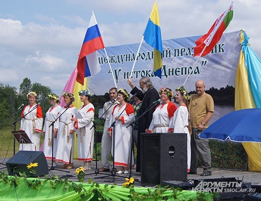 К истоку приезжают паломники из России, Беларуси и Украины