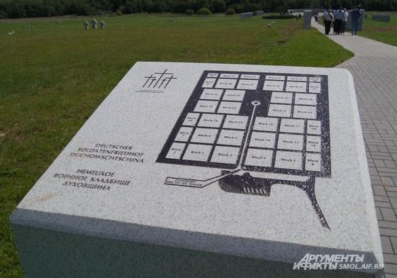 План кладбища//Plan of the cemetery