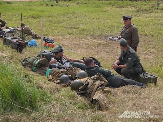 Солдаты на привале