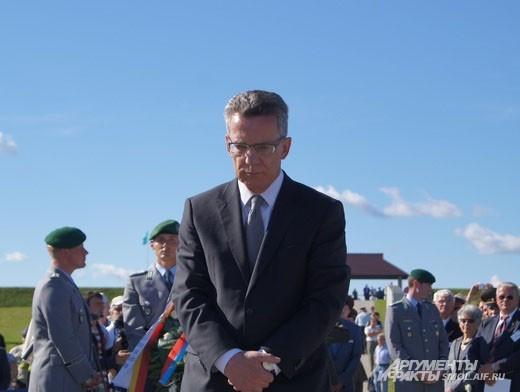 Министр обороны Германии Томас де Мезьер//German Defence Secretary  Thomas de Maizière