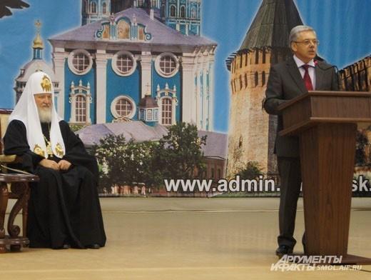 Верховный Владыка и ректор СмолГУ Евгений Кодин