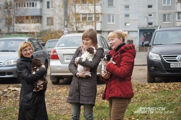Лариса Белозерова (слева) и Галина (справа) помогают городским бездомным животным, в том числе пытаясь отстаивать их права