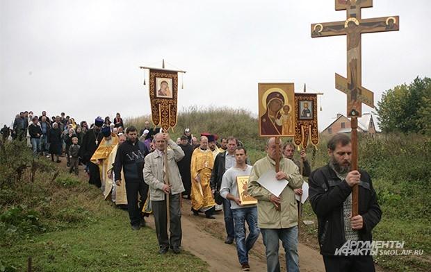 Крестный ход к месту убиения Глеба