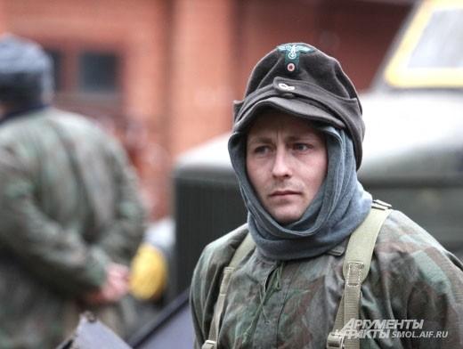 Даже ненастоящим немцам страшно перед боем с русскими солдатами.