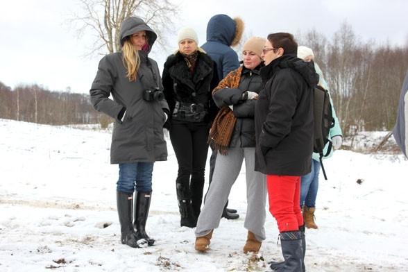 Первые туристы перед экскурсией