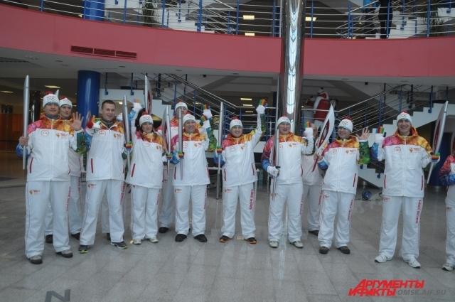Олимпийский огонь побывал и на «Арене-Омск».