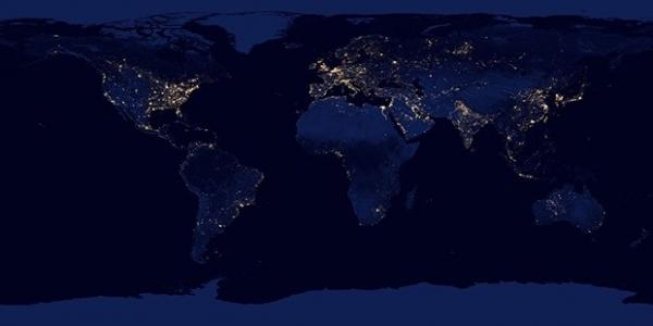 Огни ночных городов.
