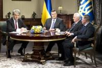 Встреча Виктора Януковича с экс-президентами Украины.